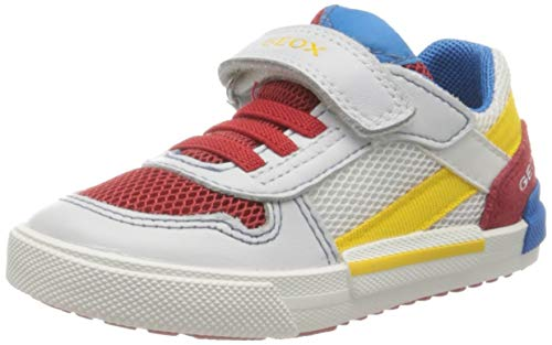 Geox B Kilwi Boy A, Sneakers Basses, Blanc (White/DK Red C1026), 21 EU