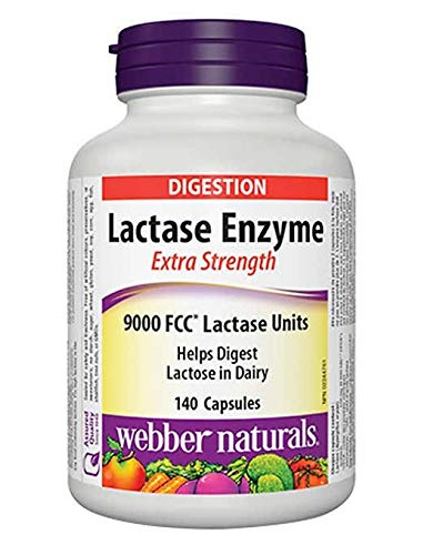 Webber Naturals - Lactase Enzyme Extra Strength 120 Capsules by Webber Naturals