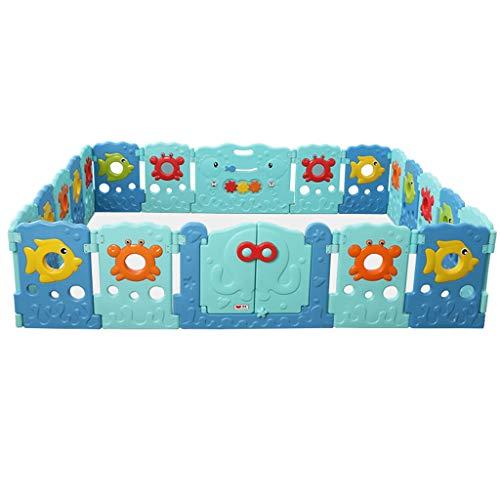 Portes de sécurité intérieures de Playards Pliables de bébé, barrière de Playards de thème Marin de puits d'enfants, Grand Stylo en Plastique de Jeu intérieur/extérieur