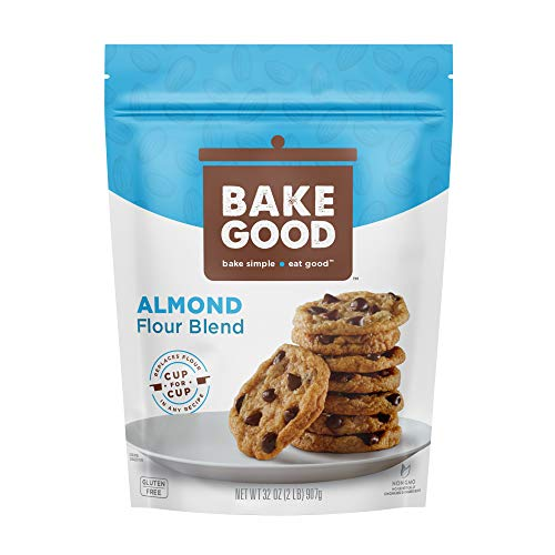 BakeGood Almond Flour Blend, 2lb, 1-to-1 Replacement for All Purpose Flour, Gluten Free, Non-GMO, Kosher