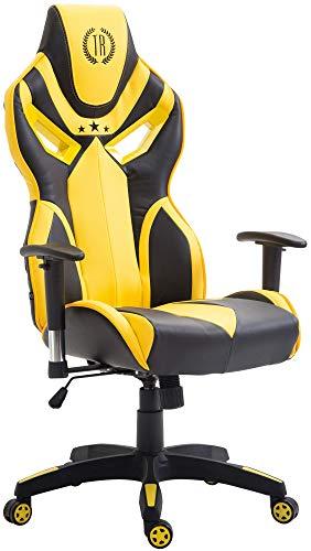 Silla gaming amarilla Fangio en Cuero Sintético