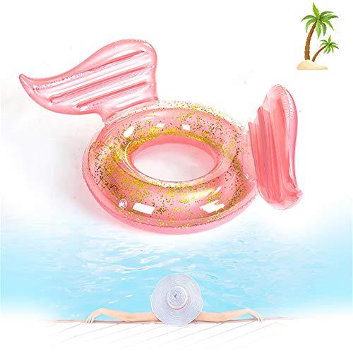 Hinchables para Piscina, Hinchable Dorado PVC Inflable Anillo (Carga MáXima 90 Kg),Much-Green Flotador Hinchable Juguete Flotante para Piscina