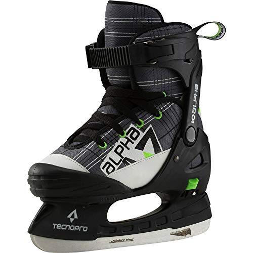Tecnopro Unisex-Kinder Alpha Soft Boy Feldhockeyschuhe, Grau (Grau/Schwarz/Lime 900), 37 EU