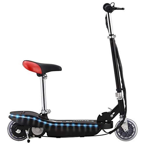 vidaXL Patinete Eléctrico con Asiento LED Transporte y Movilidad Actividades Deportes Aire...