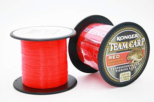 Konger Angelschnur Karpfenschnur Team CARP RED schnell sinkende 600m 0,20-0,40mm Feederschnur (0,25mm / 8,00kg)