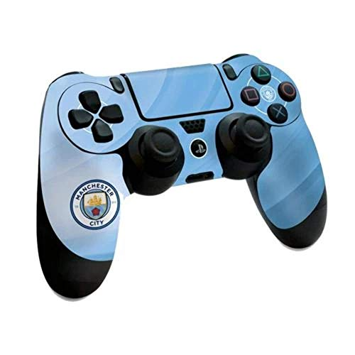 Manchester Man City FC Playstation 4 PS4 Sky Blue Controller Pad Skin Etihad Stadium Image Club Crest Fan Gift Official PS4