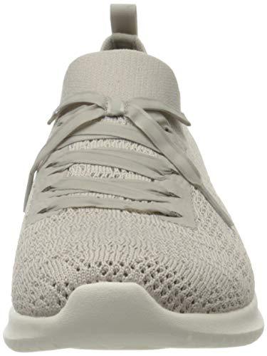 Skechers Ultra Flex, Zapatillas Mujer, Beige (Taupe Mesh/White Trim TPE), 37 EU