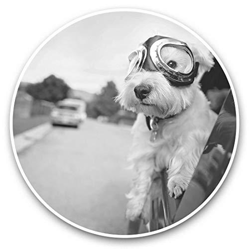 2 pegatinas de vinilo de 15 cm, diseño de perro Terrier blanco de NY West Highland 43757
