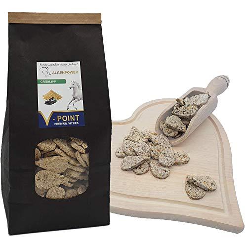 V-POINT Premium Vitties für Pferde – GRÜNLIPP für Starke Gelenke, mit natürlichem Glucosamin, Chondroitin und Omega-3 - Pferdeleckerli mit Grünlippmuschel Pulver statt Gelenkkapseln (500 g)