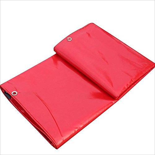 QIANGDA Toldo Lona De Protección Piscina PVC Persianas Enrollables Impermeable Super Waterptoof Protege Madera / Agregados -500 G / M², Espesor 0.45mm, Rojo, 8 Tamaños Opcionales, Tamaño Personalizado ( Tamaño : 2 x 2m )
