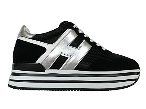 Hogan Zapatillas deportivas para mujer H483 con cordones HXW4830CB81PFH7234, color negro Size: 37.5 EU