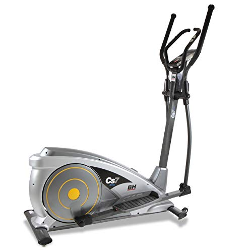BH Fitness CS7 EMS G2312 Bicicletta ellittica elettromagnetica con volano da 10 Kg e falcata da 40 cm