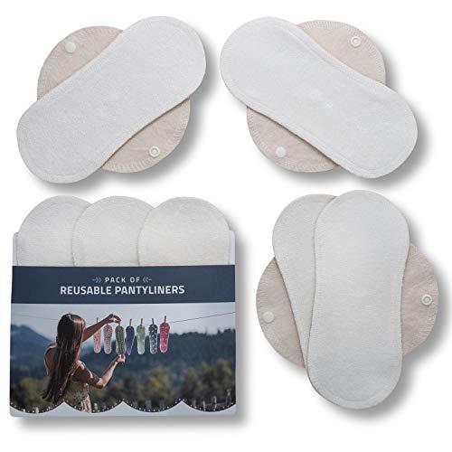 Natissy Salvaslips de tela reutilizables, 7-Pack Protege Sli