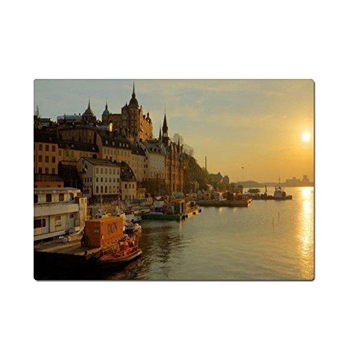 Schweden Stockholm Promenade River Maus Pad, Gaming Maus Pads 25cm (L) * 19,8cm (W)
