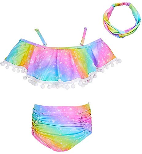 Beinou Girls Swimming Costume 2 Piece Swimsuit Bikini Tankini Sets Swimwear...