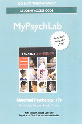 NEW MyLab Psychology with Pearson eText -- Standalone Access Card -- for Abnormal Psychology