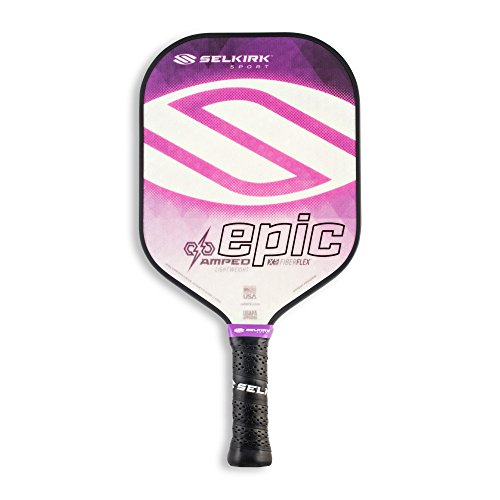 Selkirk Amped Pickleball Paddles - Made in The USA - Use The Paddle of The Pros (2019 Epic Amethyst Purple Lightweight)