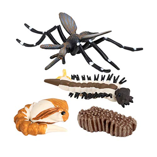 perfeclan s de Ciclo de Vida de 4 Piezas, de Juguete de plástico de Mosquitos de Insectos-auténtico Modelo Pintado a Mano