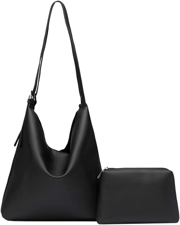 PAULIGA Women Fashion One Shoulder Bag Soft Pu Leather Hobo bag Set 2pcs Wallets
