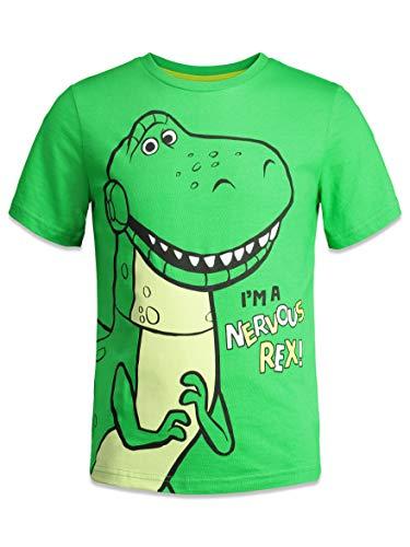 Disney Pixar Toy Story Big Boys 4 Pack T-Shirts Woody Buzz Lightyear Rex Slinky Dog 14
