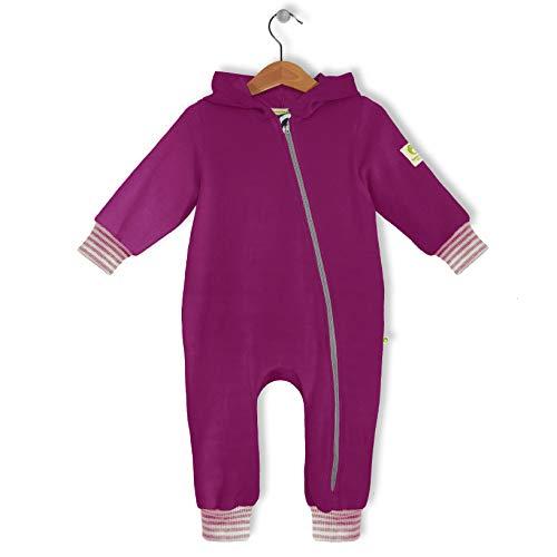 bubble.kid berlin - Made in Germany - Baby Mädchen Jungen Unisex Ganzjahres Anzug Overall Einteiler Jumpsuit Onepiece - kuschelweicher Nicki, RV-Schutz (86-92 (1-2 Jahre), cyclam)