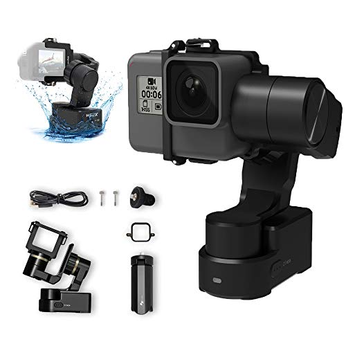 FeiyuTech WG2X 3-Axis Wearable Gimbal Stabilizer for GoPro Hero 8(Fixture)/7/6/5/4/3,DJI Osmo Action Sport Camera, AEE, SJCAM,Official-Authorized