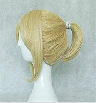 XZGDEN Hair Replacement Wig Wigs for Women Synthetic Hair Wigs Vocaloid Kagamine Len Blonde Grey Balck Red Brown Cosplay Wig High Temperature Fiber 5 Colors Women s Wigs,Pastel Wavy Wig