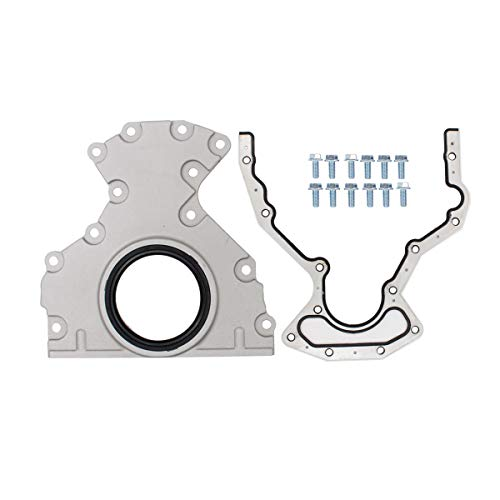 NewYall Crankshaft Rear Main Seal Cover with Housing Cover, Gasket, Bolt Kit
