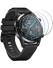 UCMDA Protector de Pantalla para Huawei Watch GT 2 46mm - [3-Pack] HD Full Cristal Vidrio Templado 2.5D Touch,HD-Display, Anti-Burbujas,para Huawei Watch GT 2 (Huawei GT 2 46mm)