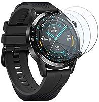UCMDA Protector de Pantalla para Huawei Watch GT 2 46mm - [3-Pack] HD Full Cristal Vidrio Templado 2.5D...