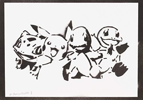 Poster Pokemon Grafiti Hecho a Mano - Handmade Street Art - Artwork