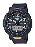 Casio Men's Pro Trek Bluetooth Connected Quartz Sport Watch with Resin Strap, Black, 22.2 (Model:...