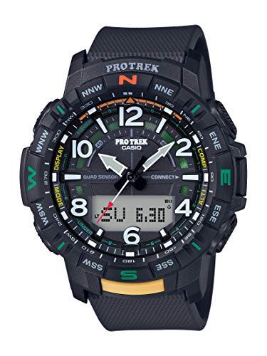 Casio Men's Pro Trek Bluetooth Connected Quartz Sport Watch with Resin Strap, Black, 22.2 (Model: PRT-B50-1CR)