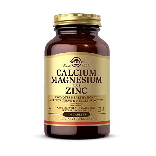 Solgar Calcio y Magnesio con Zinc Comprimidos - Envase de 100