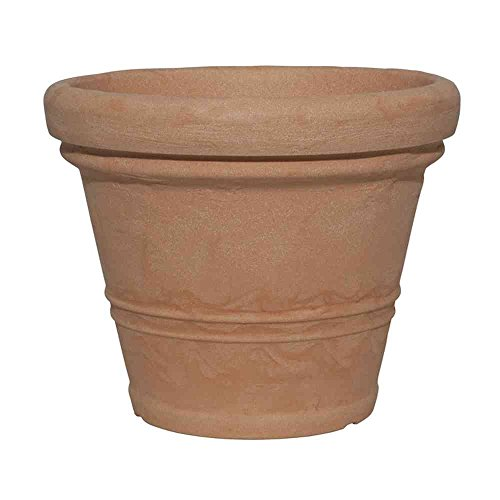 Testrut Pflanztopf, Kunststoff, rund, Terrakottaoptik, Erdvolumen ca. 53 l, Durchmesser ca. 55 cm, Höhe ca. 44 cm