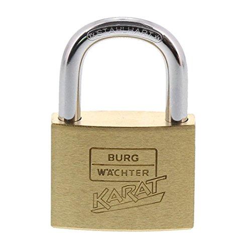 Burg-Wächter 217 40 BURG Vorhangschloss Karat, 40 mm SB, Bügelstärke: 6 mm, Bügelhöhe: 23,5 mm