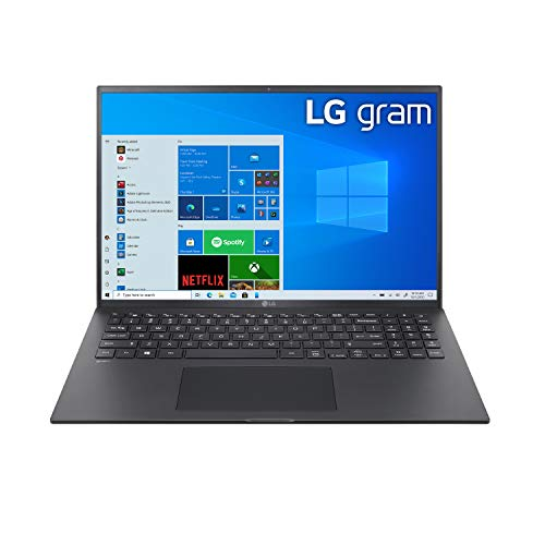 "LG Gram Thin & Light Laptop - 16"" IPS WQXGA (2560 x 1600) 11th Gen Intel Core i7 1165G7 CPU, Intel Iris Xe Graphics, 16GB RAM, 1TB NVMe SSD, 22 Hour Battery, - 16Z90P-K.AAB8U1 - Black (2021)"