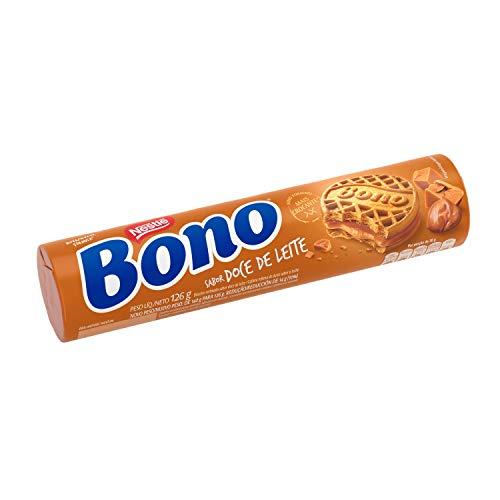 Bono, Biscoito Recheado, Doce de leite, 126g