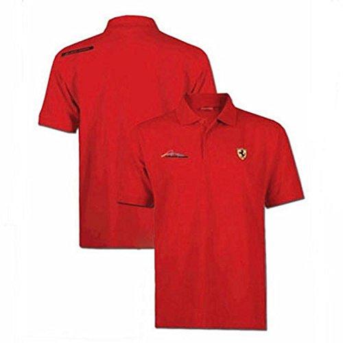 Ferrari Polo Homme Signature Scudetto Rouge Taille XXL