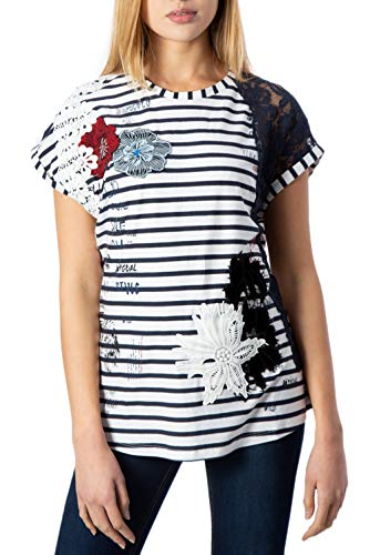 Desigual TS_Refresh Camiseta, Blanco (Blanco 1000), X-Large para Mujer
