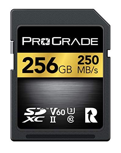 SD UHS-II 256 GB Karte V60 - Schreibgeschwindigkeit bis zu 130MB/s und Lesegeschwindigkeit von 250MB/s | Für professionelle Filmemacher, Fotografen und Kuratoren von Inhalten - von Prograde Digital