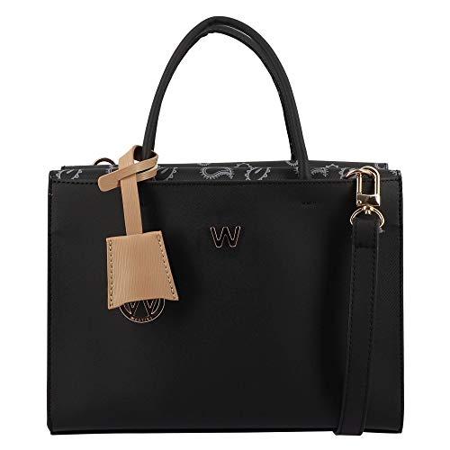 Westies HBMUGGLEWE Bolsa satchel Negra de material Sintético para Dama, chica