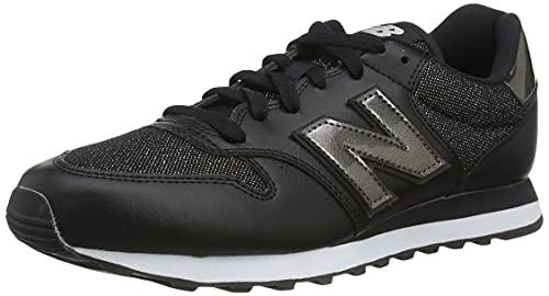 New Balance 500 Glitter Pack, Zapatillas para Mujer, Negro, 37.5 EU