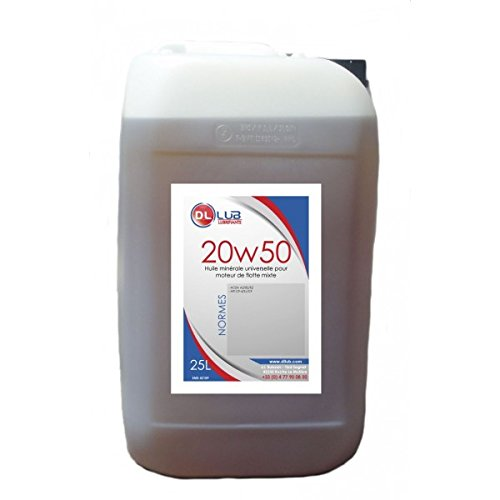DLLUB - HUILE MINERALE SAE 20W50-25 litres