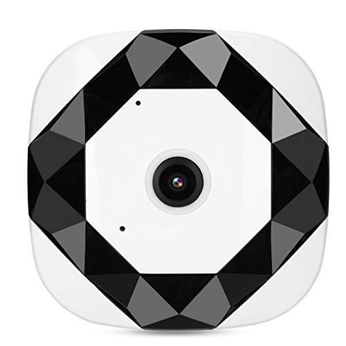 Cámara WiFi, cámara panorámica, visión nocturna infrarroja de 360 ° para el hogar de la oficina(US standard 100-240V)