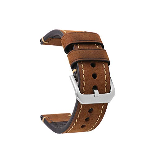 Belt Orologi Cuoio Men's Replacement Strap Buckle Small Stainless Steel Compatible Traditional Sports Watches Accessories 20MM Brown