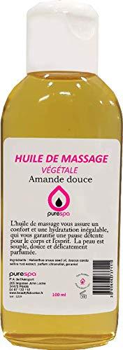 Huile de massage végétale parfum AMANDE DOUCE -100ml- Purespa By Purenail