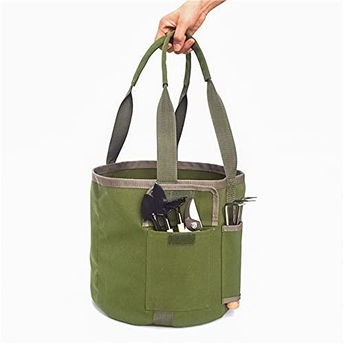 Moiyoudis Bolsa de herramientas de jardín con 2 bolsillos laterales, bolsa de...