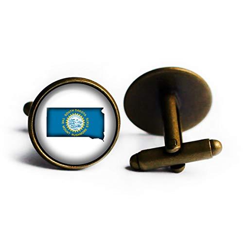 United States NEW Silhouette State Flag Bronze Dakota Cuffl SD South Seattle Mall