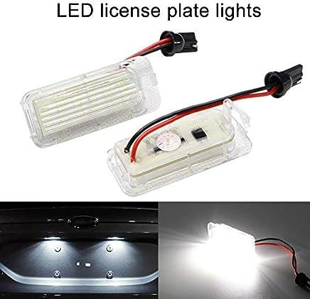 Tutyuity - 2 Luces LED de xenón para matrícula de Ford Fiesta Focus Mondeo